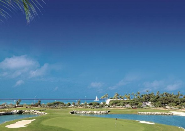 campo de golf del Divi Village Golf and Beach Resort