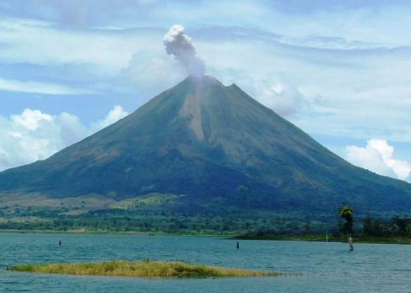 volcan y lago Arenal
